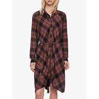 AllSaints Tala Check Hanky Hem Dress