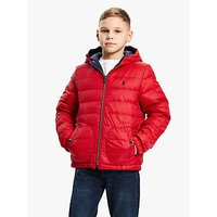 Polo Ralph Lauren Boys Reversible Padded Jacket, Navy/Red