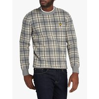 Lyle & Scott Check Lambswool Blend Knitted Jumper
