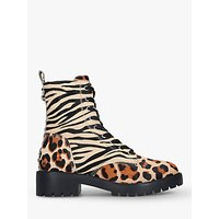 Steve Madden Grid Lace Up Ankle Boots, Multi