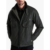 Barbour International Tennant Waxed Jacket, Sage