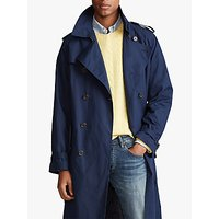 Polo Ralph Lauren Stretch Cotton Balmacaan Trench Coat, Navy