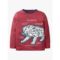 Mini Boden Boys Glow In The Dark Sabre Tooth Tiger T-Shirt, Red