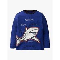 Mini Boden Boys Glow In The Dark Shark T-Shirt, Blue