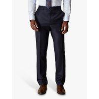 Jaeger Wool Flannel Regular Fit Suit Trousers, Navy