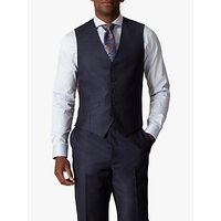 Jaeger Wool Flannel Regular Fit Waistcoat, Navy