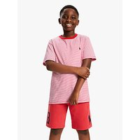 Polo Ralph Lauren Boys Stripe T-Shirt, Sunrise Red