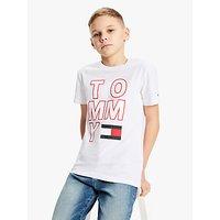 Tommy Hilfiger Boys Organic Cotton Logo T-Shirt, White