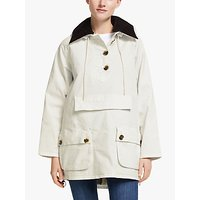 Barbour by ALEXACHUNG Constance Casual Jacket, White Linen/Dress Tartan