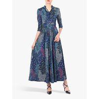 Jolie Moi Tie Neck Half Sleeve Floral Print Dress, Multi