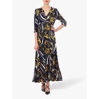 Jolie Moi Twist Front Maxi Dress, Navy Floral