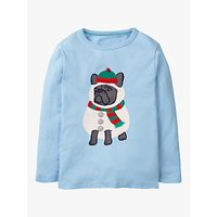 Mini Boden Boys Festive Dress Up Dog T-Shirt, Light Blue