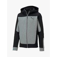 Puma Boys Evostripe Hooded Jacket, Grey