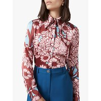 Finery Ludlow Floral Print Shirt, Pink/Multi
