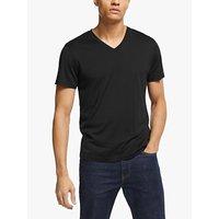Theory Claey Silk Cotton V-Neck T-Shirt, Navy