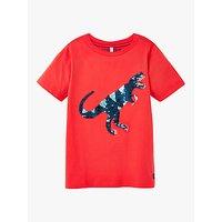 Little Joule Boys Cullen Dinosaur T-Shirt, Red