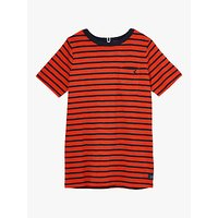 Little Joule Boys Laundered Stripe T-Shirt, Red