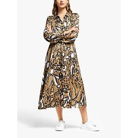 Gestuz Lorigz Print Midi Dress, Beige/Multi