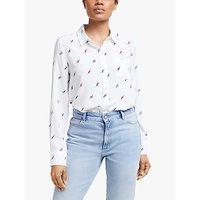 Rails Electric Bolts Print Silk Shirt, White/Multi