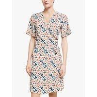 Yerse Floral Print Short Sleeve Wrap Dress, Crudo