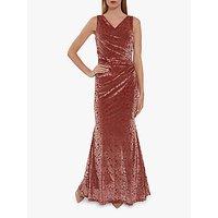 Gina Bacconi Goda Maxi Dress, Coral