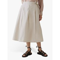 Toast Freya Cotton Linen Wrap Skirt, Parchment