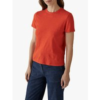 Toast Cotton Short Sleeve Boy T-Shirt, Spiced Orange