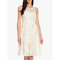 Adrianna Papell Embroidered Dress, Ivory