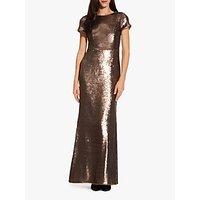 Adrianna Papell Metallic Sequin Mermaid Gown, Dark Mink