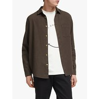 Its All Good Folk Brushed Cotton Flannel Shirt, Chestnut