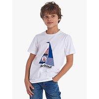 Barbour Boys Sail Boat Cotton T-Shirt, White