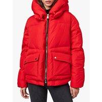 AllSaints Estee Puffer Jacket, Red