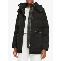 AllSaints Kyle Parka Puffer Jacket, Black