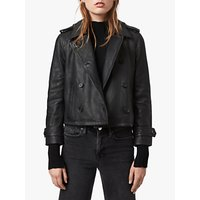AllSaints Trae Leather Jacket, Black