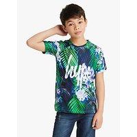 Hype Boys Tropical Print T-Shirt, Blue/Green