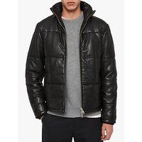 AllSaints Coronet Leather Puffer Jacket, Black
