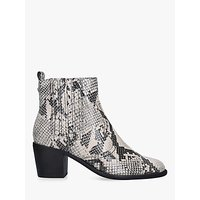 shop for Carvela Spell Leather Block Heel Boots, Natural at Shopo