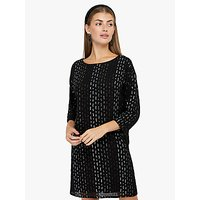 Monsoon Yara Sequin Tunic Dress, Black