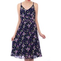 Jolie Moi Strappy Floral Pleated Midi Dress, Navy Floral