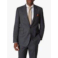 Jaeger 135 Wool Flannel Regular Fit Suit Jacket, Charcoal