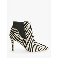 shop for Boden Elsworth Pointed Toe Ankle Boots, Zebra Print at Shopo
