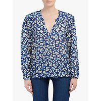 Pyrus Lucy Animal Print Blouse, Blue