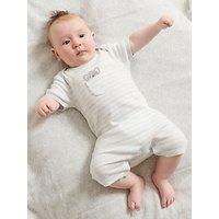 Pure Baby Organic Cotton Peekaboo Grow Suit, Eucalyptus