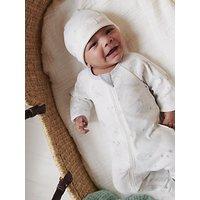Purebaby Organic Cotton Print Grow Suit, Grey