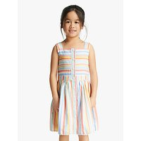 John Lewis & Partners Girls' Multi Stripe Dress, Multi