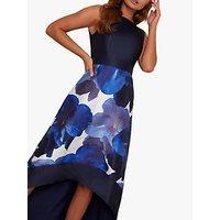 Chi Chi London Bray Floral Dress, Blue/Multi