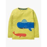 Mini Boden Boys Novelty Whale T-Shirt, Yellow