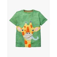 Mini Boden Boys Applique Giraffe T-Shirt, Green