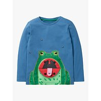 Mini Boden Boys Lift The Flap Frog T-Shirt, Blue