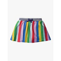 Mini Boden Girls Rainbow Stripe Jersey Skort, Multi